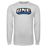White Long Sleeve T Shirt-Hockey