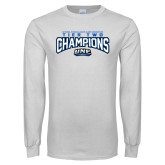 White Long Sleeve T Shirt-Tier Two Champions - Rugby 2017