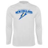 Performance White Longsleeve Shirt-University of New England