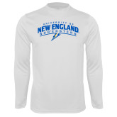 Syntrel Performance White Longsleeve Shirt-University of New England Nor Easters