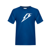 Youth Royal T Shirt-Lightning Bolt