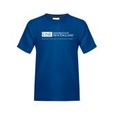 Youth Royal T Shirt-University Mark Flat
