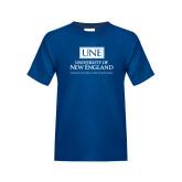 Youth Royal T Shirt-University Mark Stacked