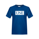 Youth Royal T Shirt-University Mark UNE