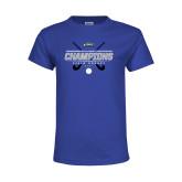 Youth Royal T Shirt-2017 Field Hockey Champions