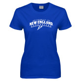 Ladies Royal T-Shirt-University of New England Nor Easters