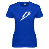Ladies Royal T-Shirt-Lightning Bolt