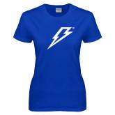 Ladies Royal T-Shirt-Lightning Bolt
