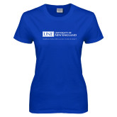 Ladies Royal T-Shirt-University Mark Flat