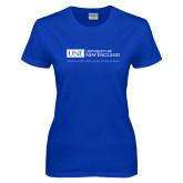 Ladies Royal T-Shirt-University Mark Flat