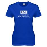 Ladies Royal T-Shirt-University Mark Stacked