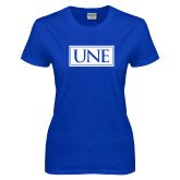 Ladies Royal T-Shirt-University Mark UNE