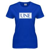 Ladies Royal T-Shirt-University Mark UNE