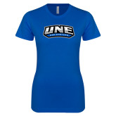 Next Level Ladies SoftStyle Junior Fitted Royal Tee-UNE Nor Easters