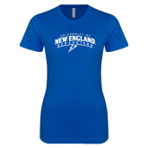 Next Level Ladies SoftStyle Junior Fitted Royal Tee-University of New England Nor Easters