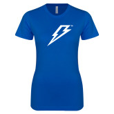 Next Level Ladies SoftStyle Junior Fitted Royal Tee-Lightning Bolt