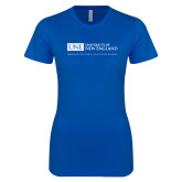 Next Level Ladies SoftStyle Junior Fitted Royal Tee-University Mark Flat