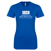 Next Level Ladies SoftStyle Junior Fitted Royal Tee-University Mark Stacked