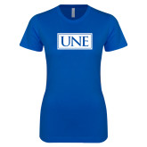 Next Level Ladies SoftStyle Junior Fitted Royal Tee-University Mark UNE