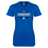 Next Level Ladies SoftStyle Junior Fitted Royal Tee-2017 Field Hockey Champions