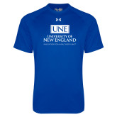 Under Armour Royal Tech Tee-University Mark Stacked