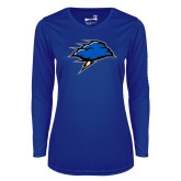 Ladies Syntrel Performance Royal Longsleeve Shirt-Cloud