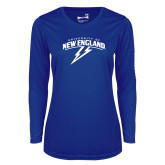 Ladies Syntrel Performance Royal Longsleeve Shirt-University of New England