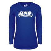 Ladies Syntrel Performance Royal Longsleeve Shirt-Hockey