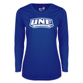 Ladies Syntrel Performance Royal Longsleeve Shirt-Lacrosse