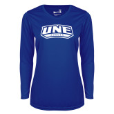Ladies Syntrel Performance Royal Longsleeve Shirt-Soccer
