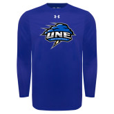 Under Armour Royal Long Sleeve Tech Tee-Primary Mark