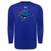 Under Armour Royal Long Sleeve Tech Tee-Cloud