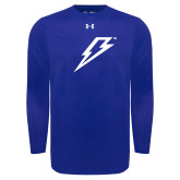 Under Armour Royal Long Sleeve Tech Tee-Lightning Bolt