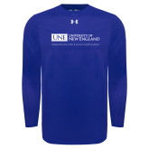 Under Armour Royal Long Sleeve Tech Tee-University Mark Flat