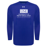 Under Armour Royal Long Sleeve Tech Tee-University Mark Stacked