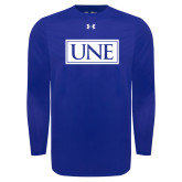 Under Armour Royal Long Sleeve Tech Tee-University Mark UNE