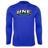 Syntrel Performance Royal Longsleeve Shirt-UNE Nor Easters