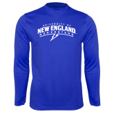 Syntrel Performance Royal Longsleeve Shirt-University of New England Nor Easters