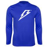 Syntrel Performance Royal Longsleeve Shirt-Lightning Bolt