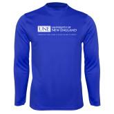 Syntrel Performance Royal Longsleeve Shirt-University Mark Flat
