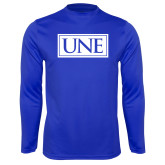 Syntrel Performance Royal Longsleeve Shirt-University Mark UNE