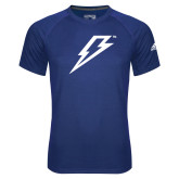 Adidas Climalite Royal Ultimate Performance Tee-Lightning Bolt