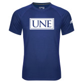 Adidas Climalite Royal Ultimate Performance Tee-University Mark UNE