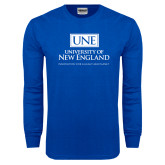 Royal Long Sleeve T Shirt-University Mark Stacked