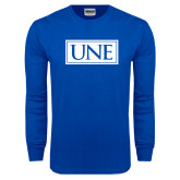 Royal Long Sleeve T Shirt-University Mark UNE