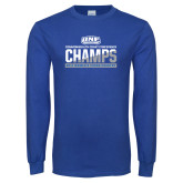 Royal Long Sleeve T Shirt-2017 Womens Cross Country Champions