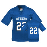 Youth Replica Royal Football Jersey-#22