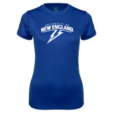Ladies Syntrel Performance Royal Tee-University of New England