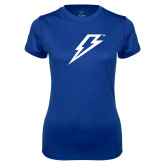 Ladies Syntrel Performance Royal Tee-Lightning Bolt