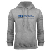Grey Fleece Hoodie-University Mark Flat